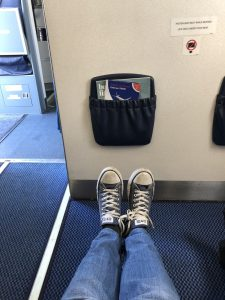 Legroom and bulkhead on aircraft