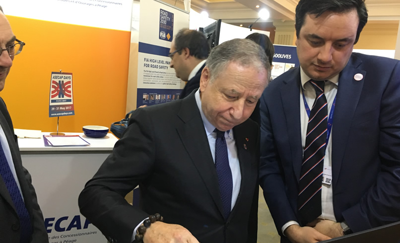 Neil Barrett with Jean Todt, President of the FIA